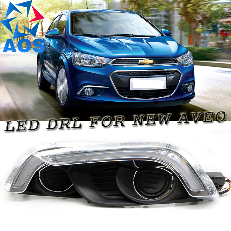 2PCs/set car styling LED daylights DRL Daytime Running Lights for Chevrolet Aveo Sonic 2014 2015 2016 ks 365 usb 2 0 female to micro usb 9 pin male otg adapter cable for samsung galaxy note 3 blue