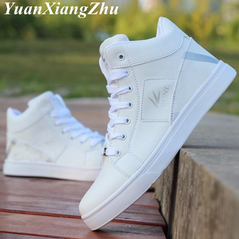 Image 5 - Men Casual Shoes Fashion Sneakers Men Shoes Brand Comfortable Lace Up Hip hop High Top Shoes Plus Size 39 45 zapatillas hombreMens Casual Shoes   -