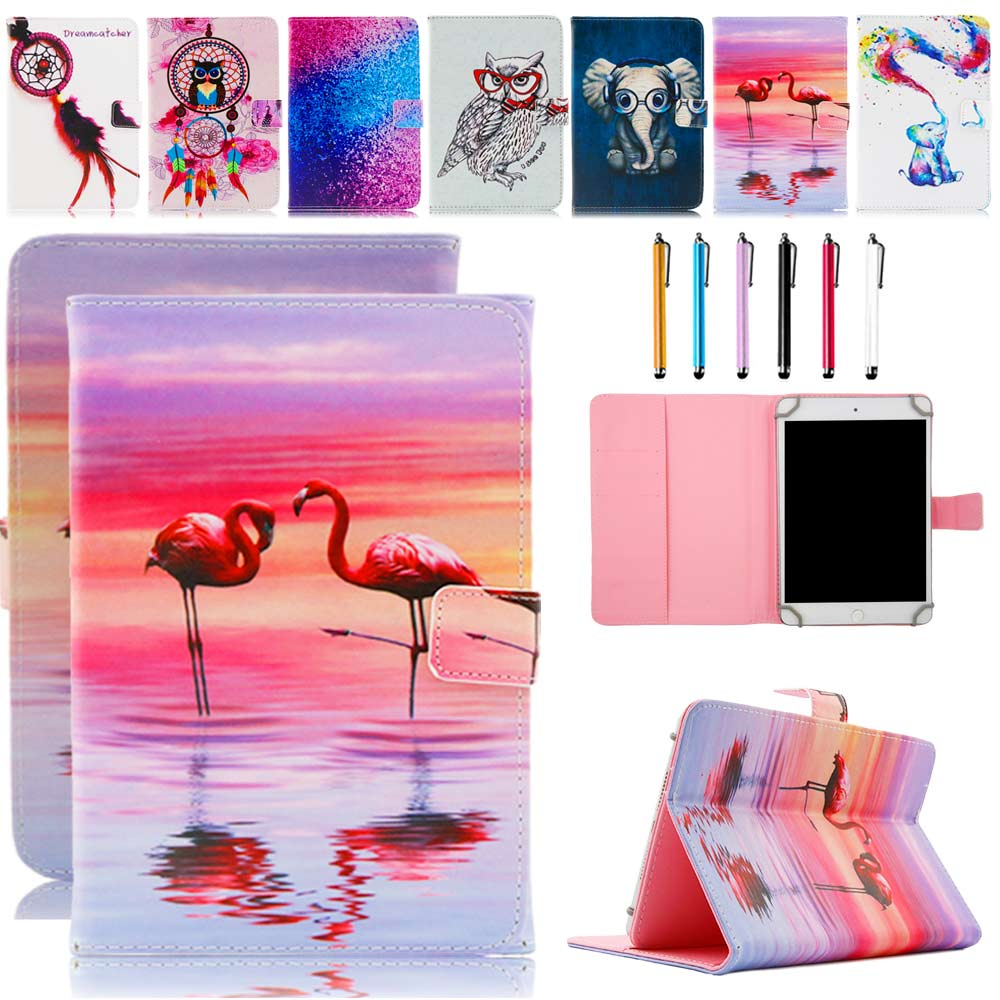 10 Universal Tablet Case For 9.7 10 10.1 Tablet PC PU Leather Print Stand Protector Cover Skin For Samsung GALAXY Tab A T550 eagwell print 10 inch universal case cover with usb keyboard for android tablet pc for samsung tab for lenovo tab for huawei tab