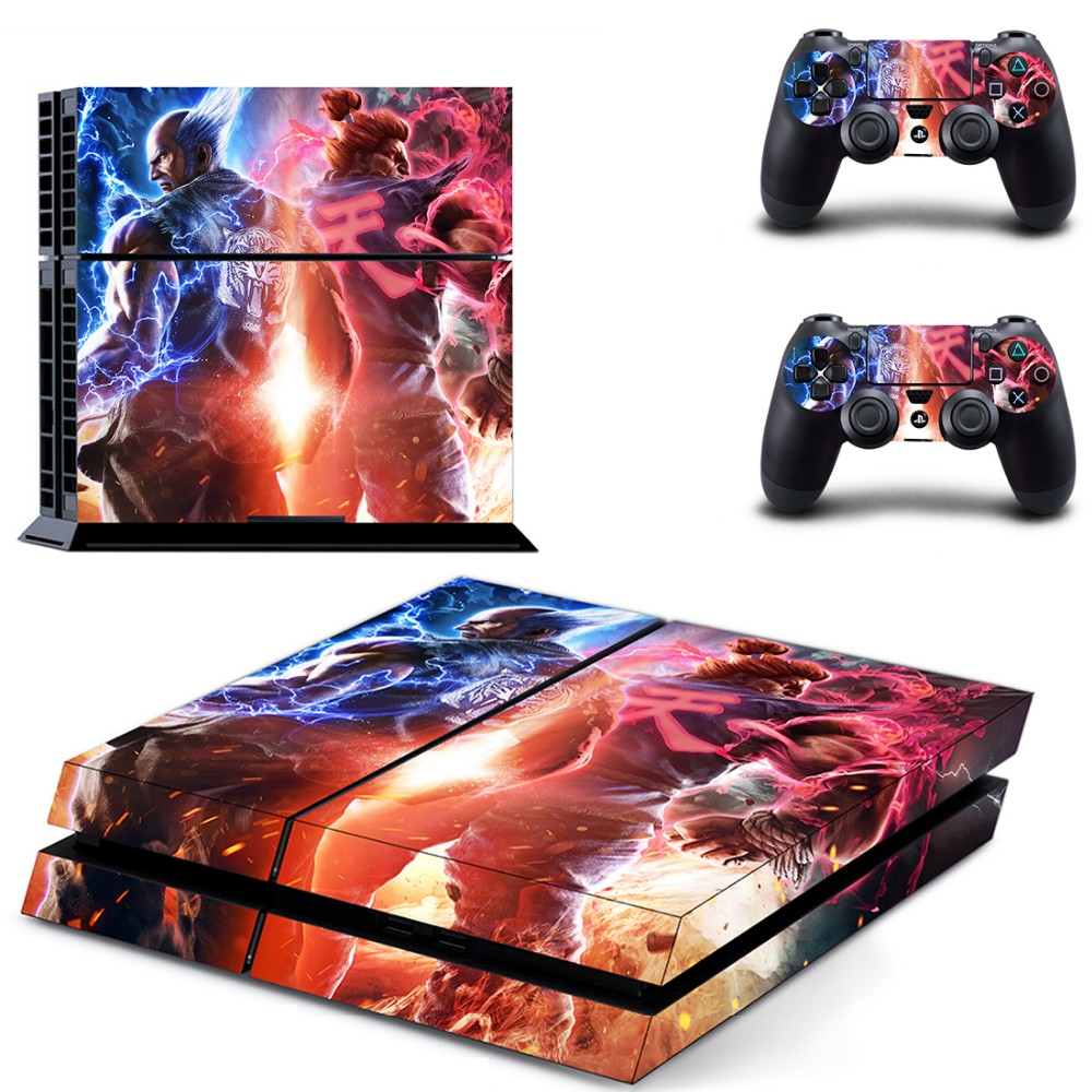 street fighter sf ps4 skin sticker for sony playstation 4 console
