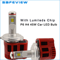 Car Accessories LED H4 Car Headlight bulbs High low Beam 1 Pair 9000LM  90W Luxeon ZES Chip 6000K