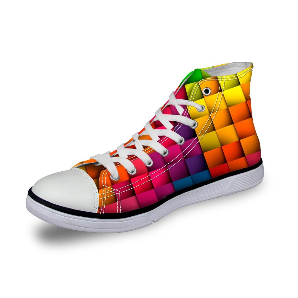 Noisydesigns Farbe Jungen Designer Schuhe 3D Druck Männer Casual - Herrenschuhe - Foto 5