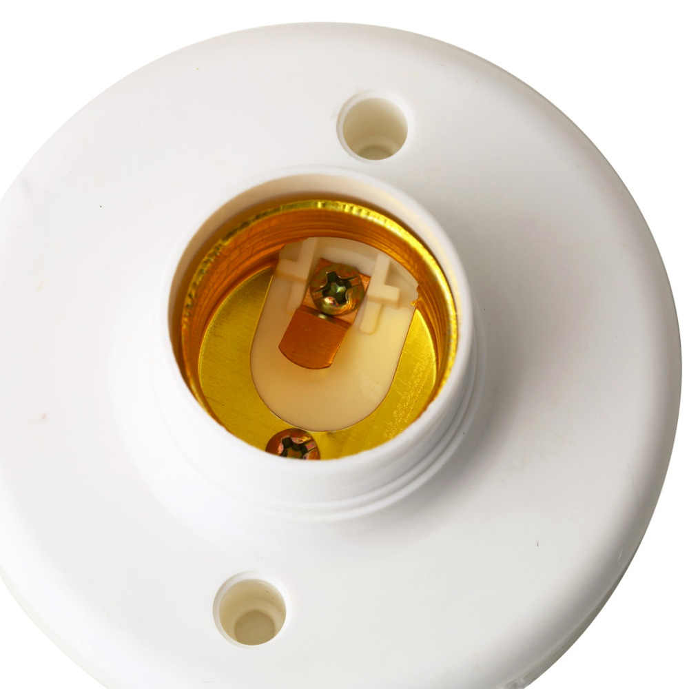 1 шт. 2017 Новый E27 Круглый Пластиковый Цоколь Винт светильник Лампа патрон белый