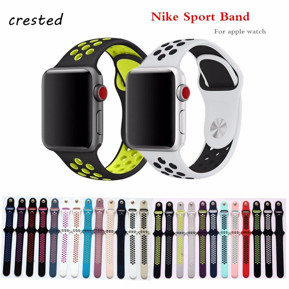 Silikon band apple uhr 42mm 38mm Sport Armband atmungsaktiv Gummi handgelenk gürtel armband + adapter für iwatch 3/2/1