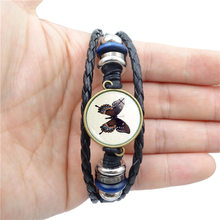 Bangle Promotion Viking Bracelet New 2018 Simple Fashion Butterfly Time Jewel Bracelet Beaded With Leather Jewelry Accessories(China)