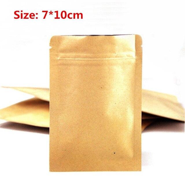 100 Pièces/lot 7*10 Cm Petit Sac De Papier Kraft De Joint