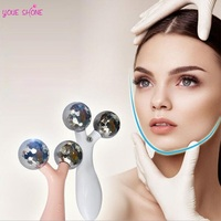 YOUE SHONE Micro Current Vibration Y Shape 3D Roller Beauty Massager 360 Rotate Full Massage Face