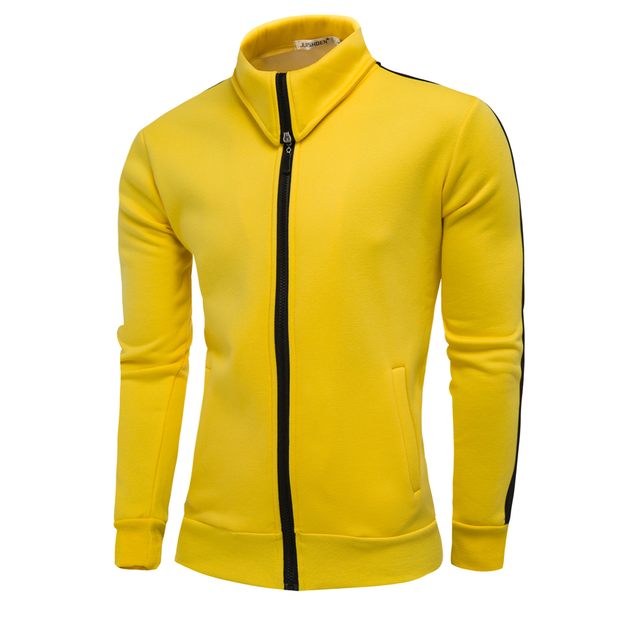 2018 New Men's Hoodie Zipper Design Men's Coat Coat Fashion Casual High Quality Collar Men's Sweatshirt Brand Apparel Hoodies