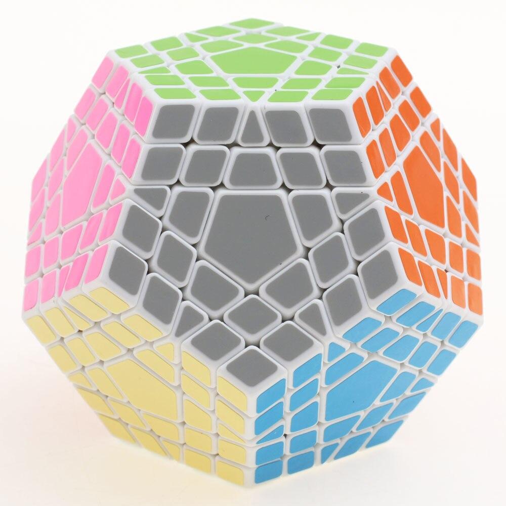 Shengshou 5x5 Gigaminx Cube magique Puzzle noir et blanc Dodecahedron 5x5 vitesse Cube jeu d'apprentissage & éducatif Cubo magico jouets - 5