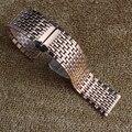 Utrl-fina Pulseira rosegold relógio de metal em aço inoxidável pulseiras pulseiras strap para relógios de quartzo mulheres accessorise 18mm 20mm 22mm