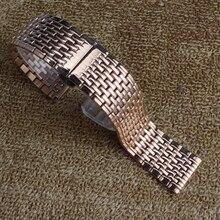 Utrl-тонкий Ремешок из нержавеющей стали металл rosegold часы ремешок браслеты для кварцевые часы женщин accessorise 18 мм 20 мм 22 мм