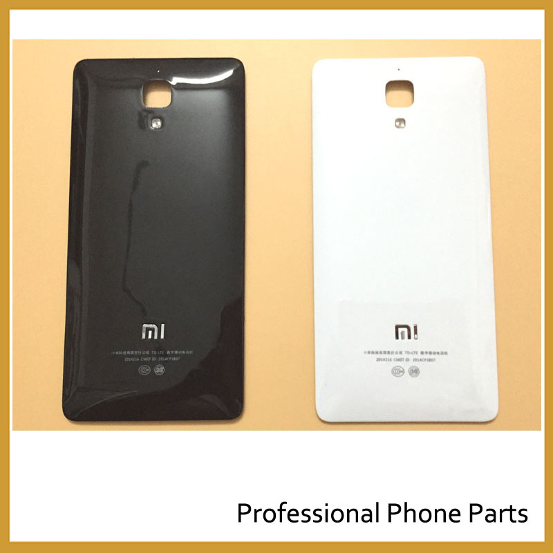 Black/White Color Original Rear Battery Door For Xiaomi Mi4 Mi 4 Housing Back Cover Mobile Phone Parts +Logo