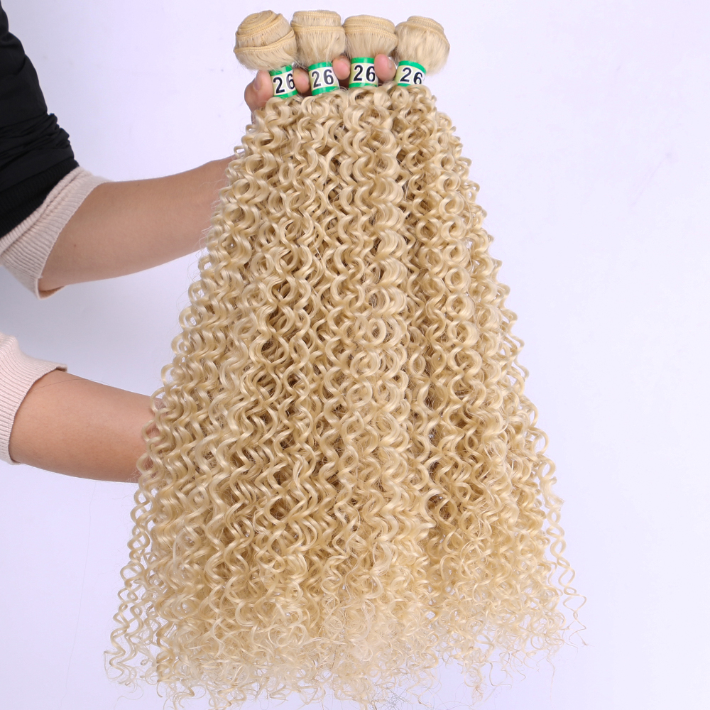 ANGIE 24-30 Inch 3 Pcs/set Over Length Synthetic Kinky Curly Hair Extensions Single