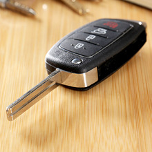 Car Flip Key Shell Remote Fob Case for HYUNDAI ix45 Santa Fe Folding Auto Replacement Part Keyless Entry Cover