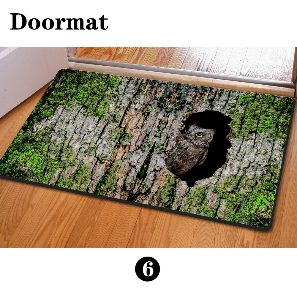 Floor mats for house - Aliexpress Com Buy Newest Floor Mats 400 600mm 3d Owl Animal Print House Door Mats Cute Squirrel Bathroom Anti Slip Outdoor Carpet For Living Room From