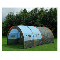 Outdoor camping double room one bedroom two hall tunnel multi person team sports equipment mountain camping supplies canopy tent