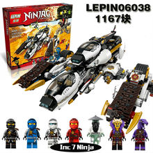 Compatible ilegoes 70595 lepin 06038 Ninjagoes Ultra Stealth Raider Ninja Minifigures Building Blocks Bricks Toys for