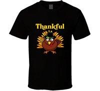OKOUFEN Thankful Turkey Thanksgiving T Shirt