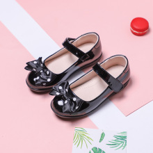 Spring Autumn Girls Black School Shoes Kids Princess Dancing Dress Childrens Student Leather 5 6 7 8 9 10-16T