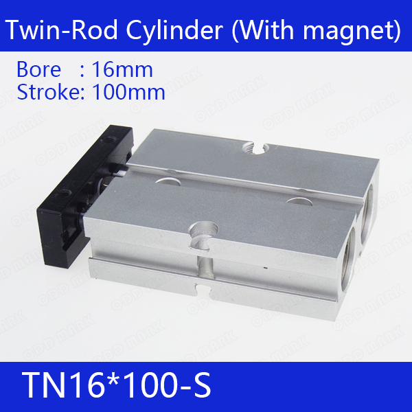 TN16*100-S Free shipping 16mm Bore 100mm Stroke Compact Air Cylinders TN16X100-S Dual Action Air Pneumatic Cylinder