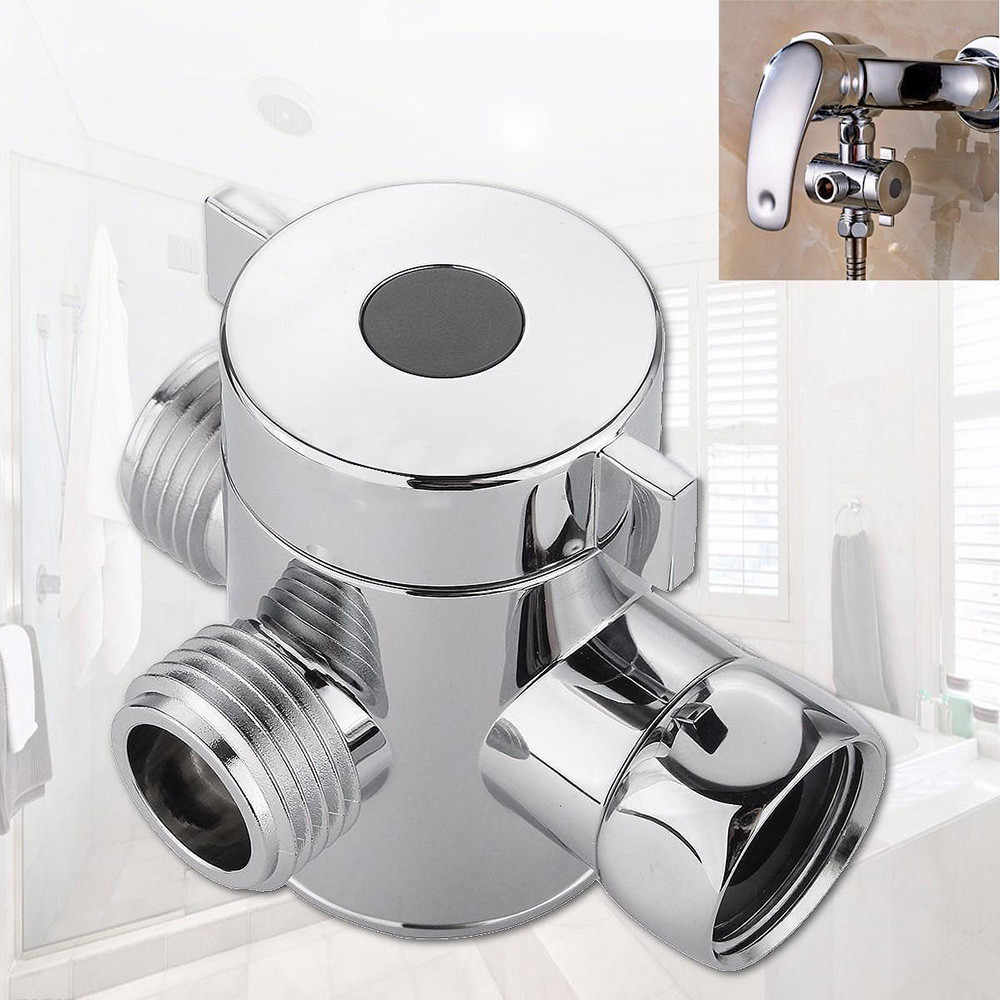 Akcesoria łazienkowe oprawa kranu części zamienne 1/2 Cal trójdrożny T-adapter zawór do bidet głowica prysznicowa przełączający 1.7