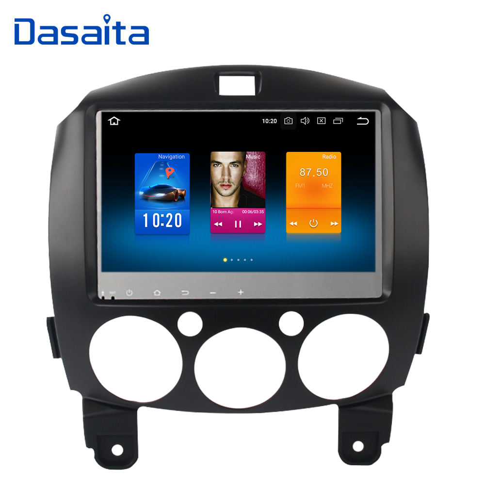 Android 8.0 Car Multimedia Player for Mazda 2 Radio 2007 2008 2009 2010 2011 2012 2013 with GPS 1024*600 4G 32G цена
