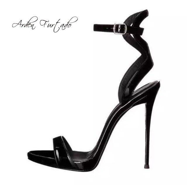 65f2f8fbf2e6 Arden Furtado 2018 summer sexy high heels 12cm buckle strap stilettos  buckle strap platform fashion sandals ladies shoes size 43