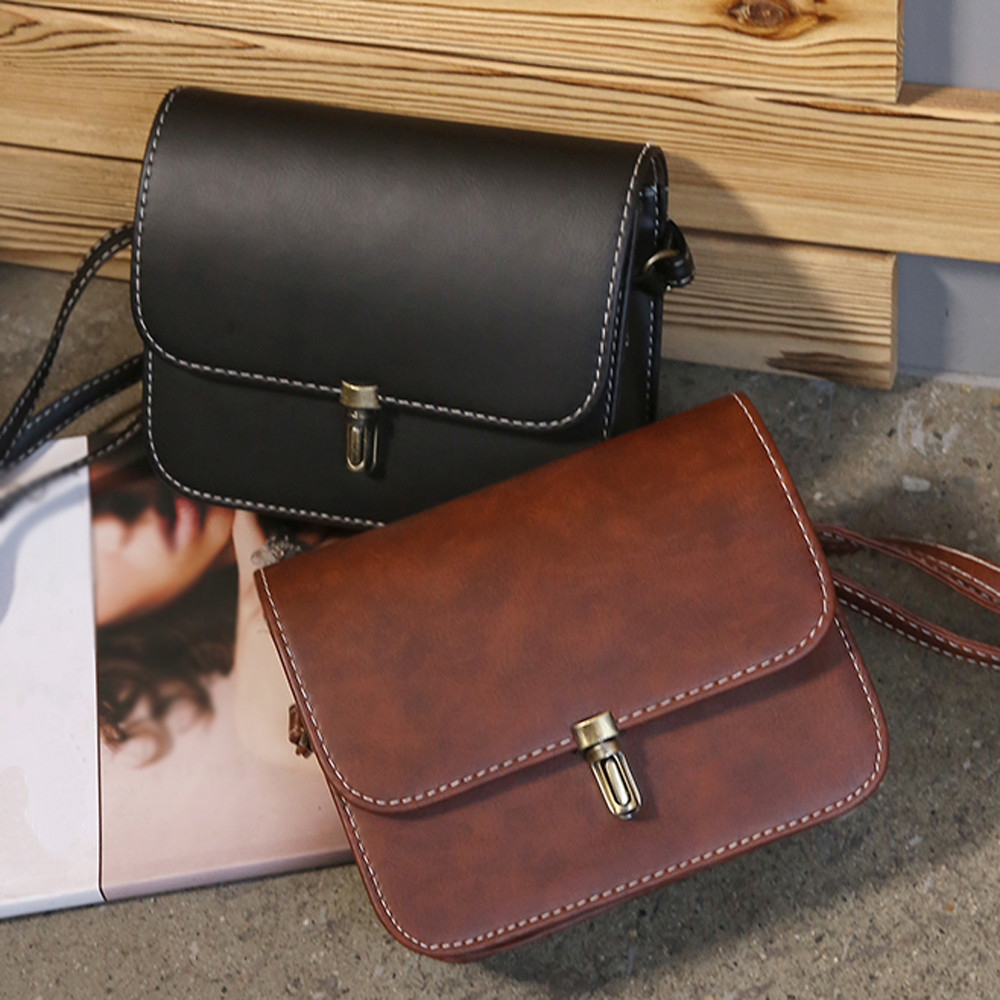 Women Small Square Handbag Shoulder Crossbody Messenger Bag Satchel Tote Purse