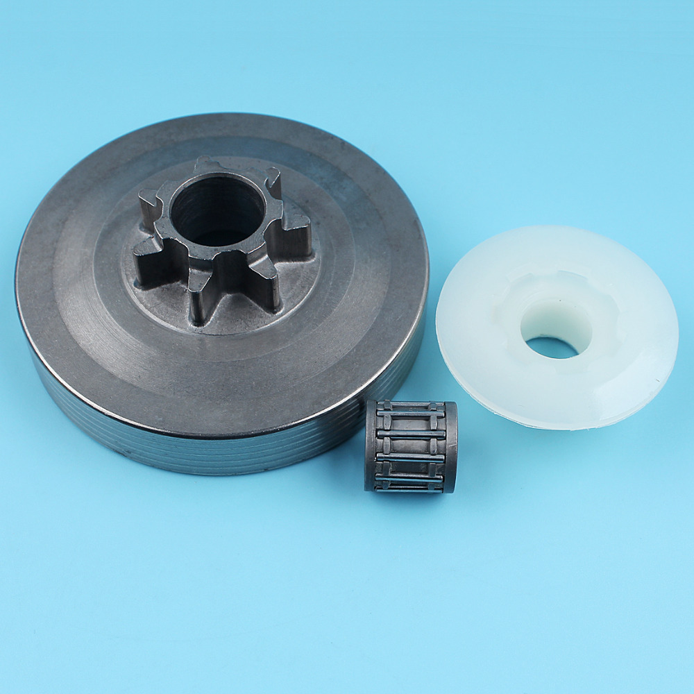Clutch Drum Worm Gear Needle Bearing Kit For Chinese 4500 45cc 5200 52cc 5800 58cc Chainsaw .325-7T New Parts