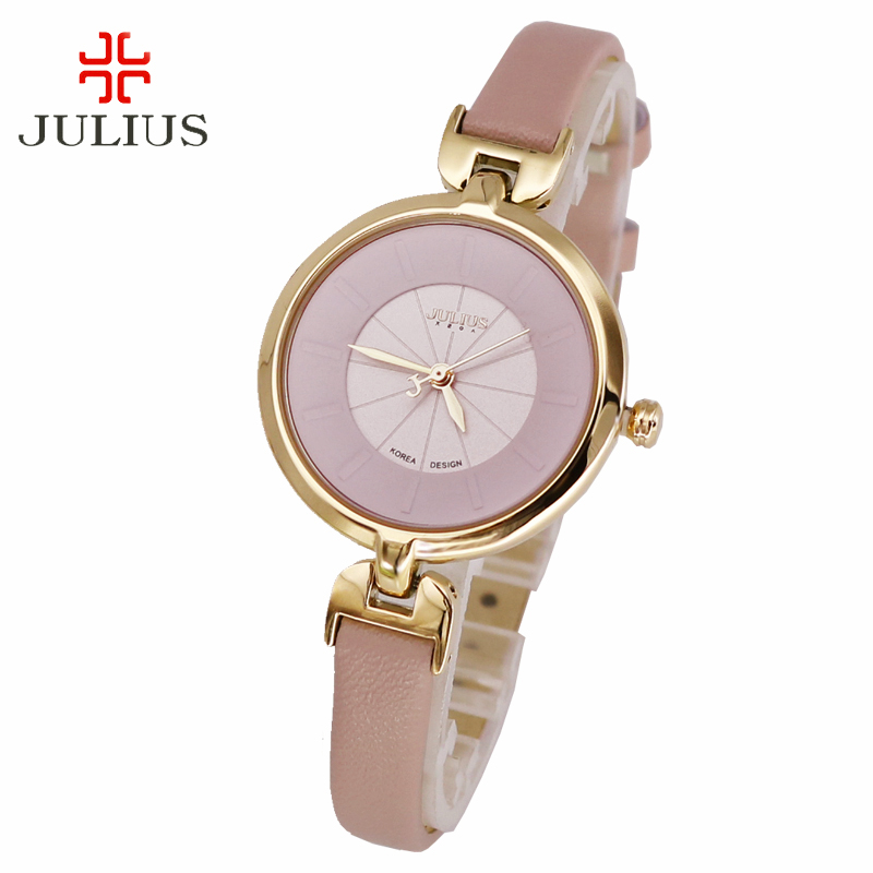 Top Lady Women's Watch Elegant Simple Fashion Hours Classic Dress Bracelet Leather School Girl Birthday Gift Julius Box цена и фото