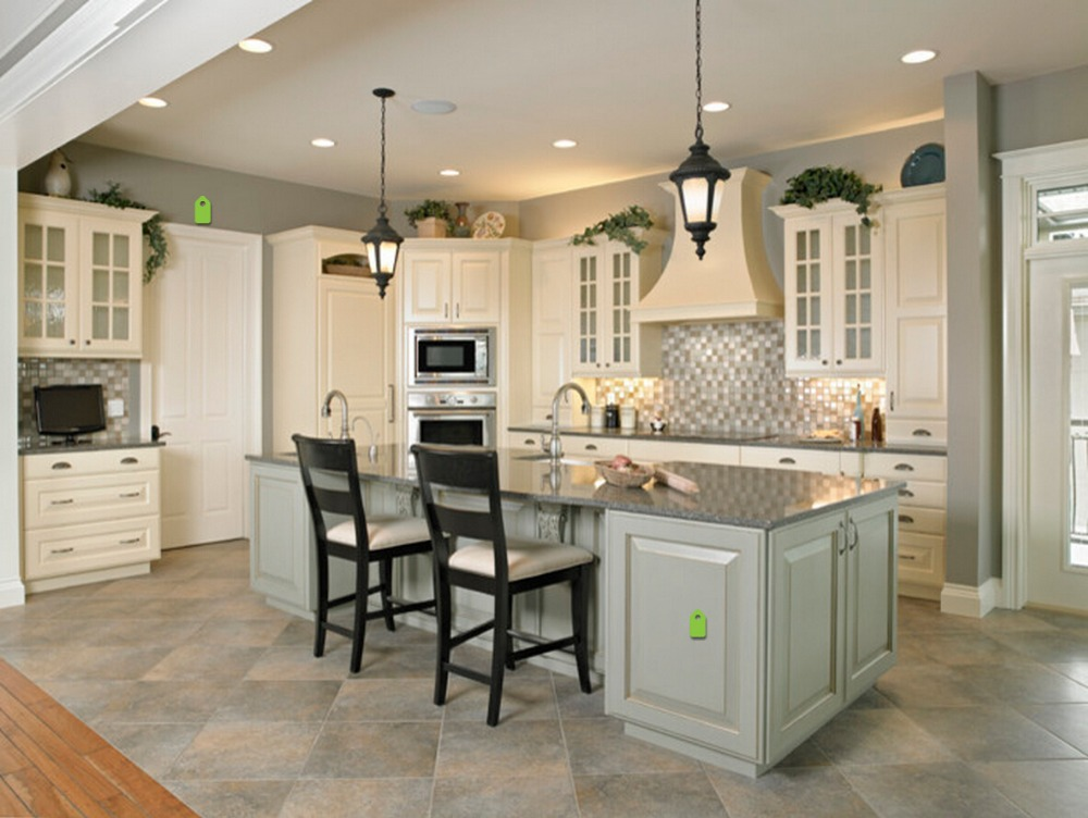2017 Cheap Priced White Color Solid Wood Kitchen Cabinets Customized Made Traditional Kitchen Furniture S1606108