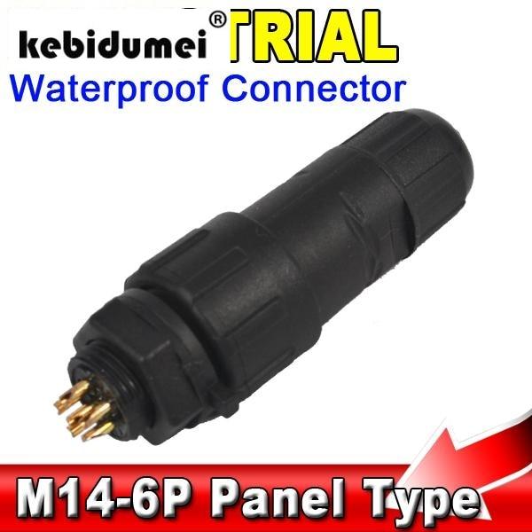 Kebidumei 6 Pin 5A 500 V Max Wasserdichten Stecker 6Pin ...