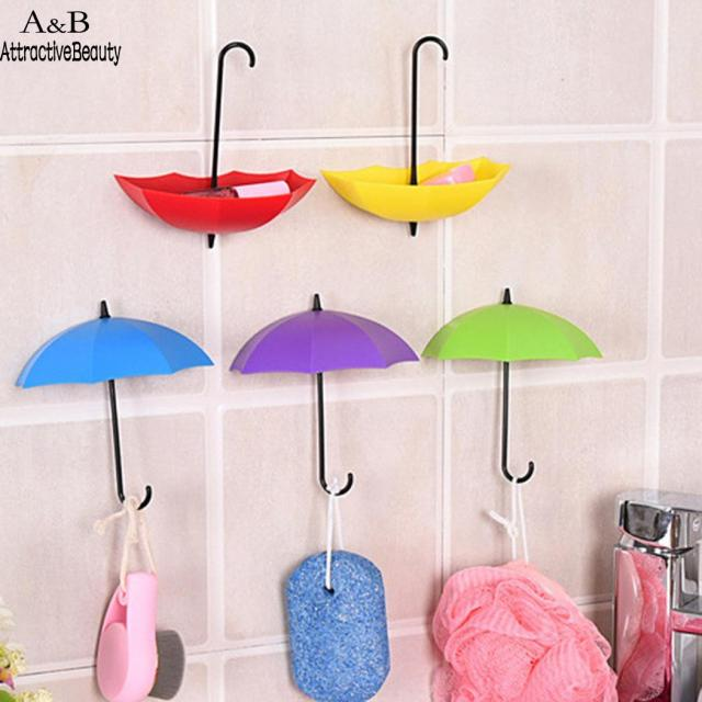 Charmant Organizer Wall Hooks Decoration Hanger Key Rack Holder Bathroom Kitchen  Umbrella