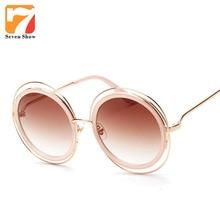 2017 de la Ronda de Steampunk gafas de Sol Mujeres Hombres Diseñador de la Marca de Gran Tamaño Gafas de Sol Para Hombre Mujer Shades Oculos UV400
