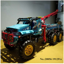 IN STOCK H HXY 20056 1912Pcs The Ultimate All Terrain 6X6 Remote Control Truck Set Lepin