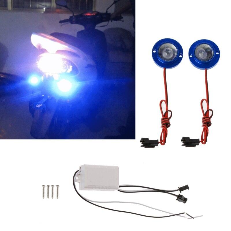 QILEJVS DC 12V 2 Pcs/Set Car Motorcycle High Power LED Decorative Strobe Flash Brake Tail Light