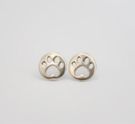 10Pair Cute Bear Cat Paw Stud Earrings Animal Panda Paw Print Stud Earrings Decoupage Round Dog Paw Earring earrings