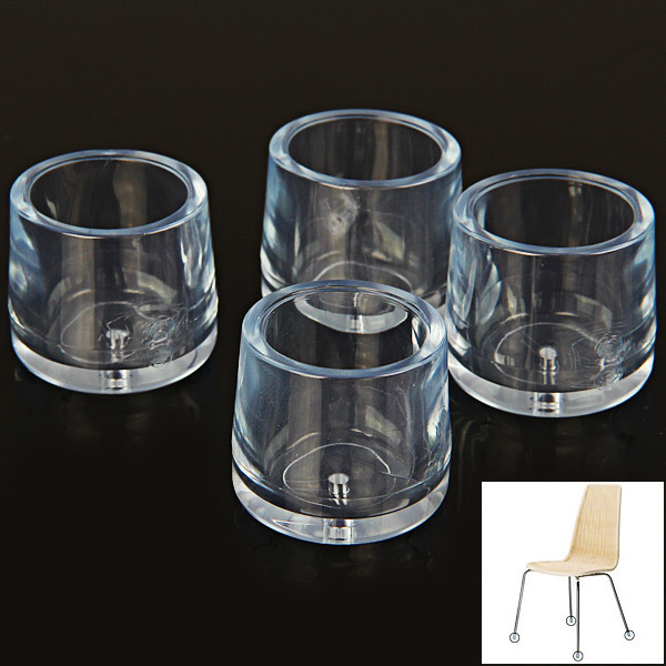 4PCS Transparent Chair Leg Floor Protector Foot Cover Anti Slip And  Anti Noise Cover