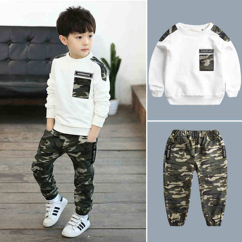 2PCS/set Cotton Spring Autumn Baby Boy Clothing Sets Sport Clothes Set For Boy Kids Clothes Suit (Shirt+Pants) 4-13Y Boys Suit одежда на маленьких мальчиков