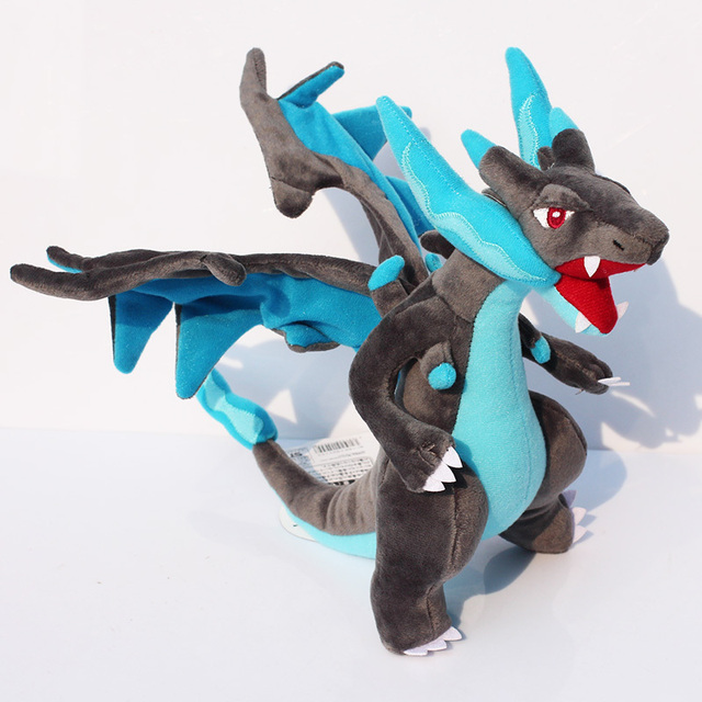 Us 10 51 10 25cm Mega Charizard X Stuffed Plush Toy Blue Dragon Doll In Stuffed Plush Animals From Toys Hobbies On Aliexpress Com Alibaba
