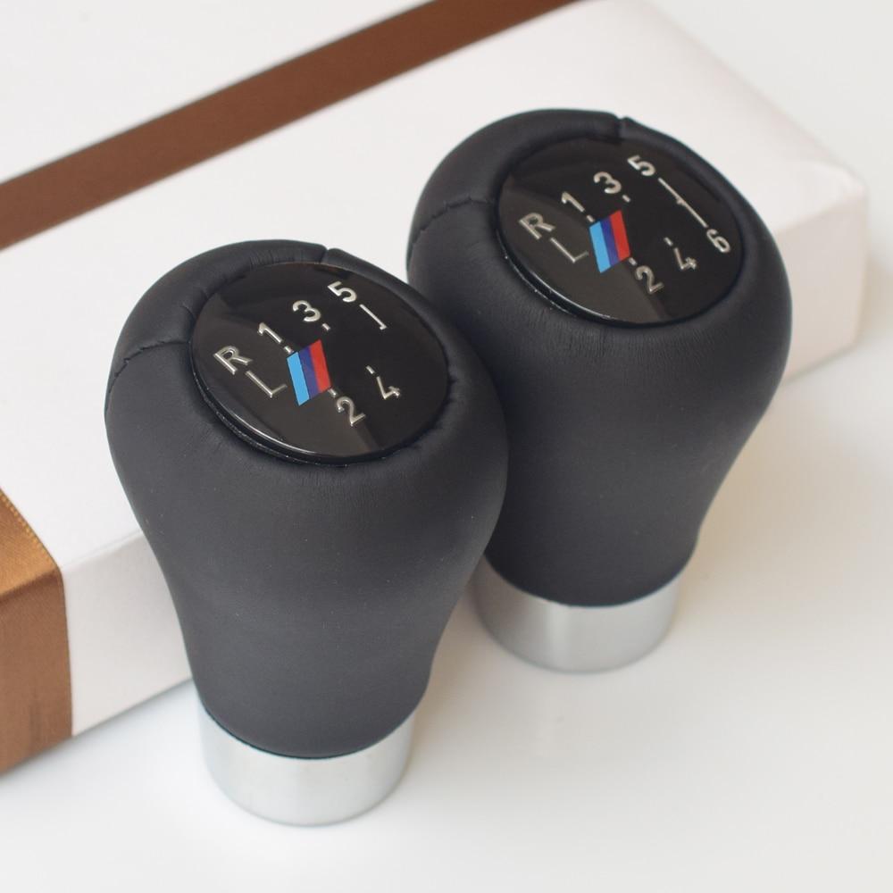 Palanca de cambios Perilla del cambio de engranaje for BMW 1 3 5 6 Series E46 E53 E60 E61 E63 E65 E81 E82 E83 E87 E90 E91 E92 X1 X3 X5 M cromado mate de fibra de carbono