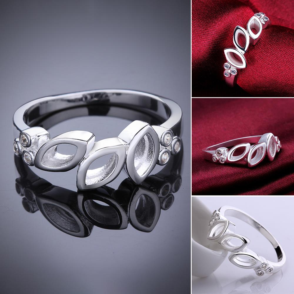 Stainless Steel 8 Silver Plated fashion ring R620-8 Silver plated design finger ring for lady