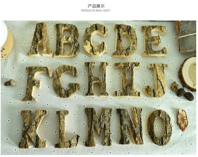 Lettere Di Legno Da Appendere : 2016 new country restoring ancient originale corteccia di legno