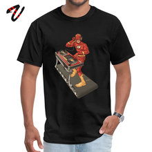 DJ Barry Allen T Shirts Funny Alien Sleeve Fashionable Grant O-Neck Adult Tops Casual Shirt NEW YEAR DAY