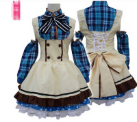 Free Shipping Role Paly Japanese Anime Love Live Sonoda Umi Lolita Girls Fancy Candy Maid Dress