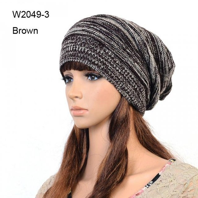 72pcslot Mens Knitted Slouch Crochet Beanies Hat Oversized Winter