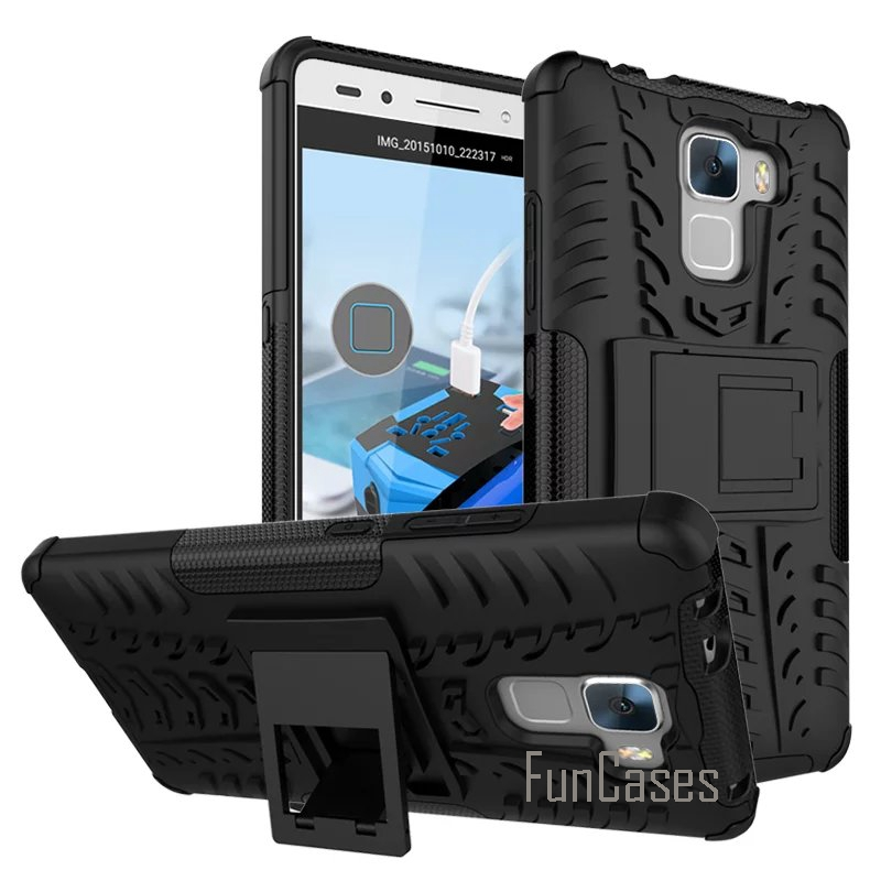 Case for Huawei Honor 7 Hybrid Dual Heavy Duty Hard tpu+PC Mobile Phone Armor Case For H ...