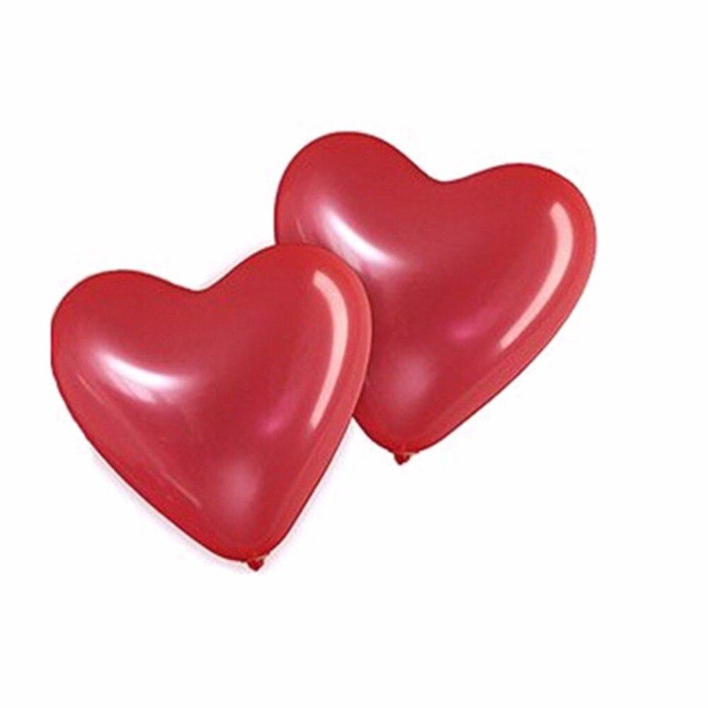 100 LOVE HEART SHAPE BALLOONS Wedding Party Romantic baloon Birthday decoration