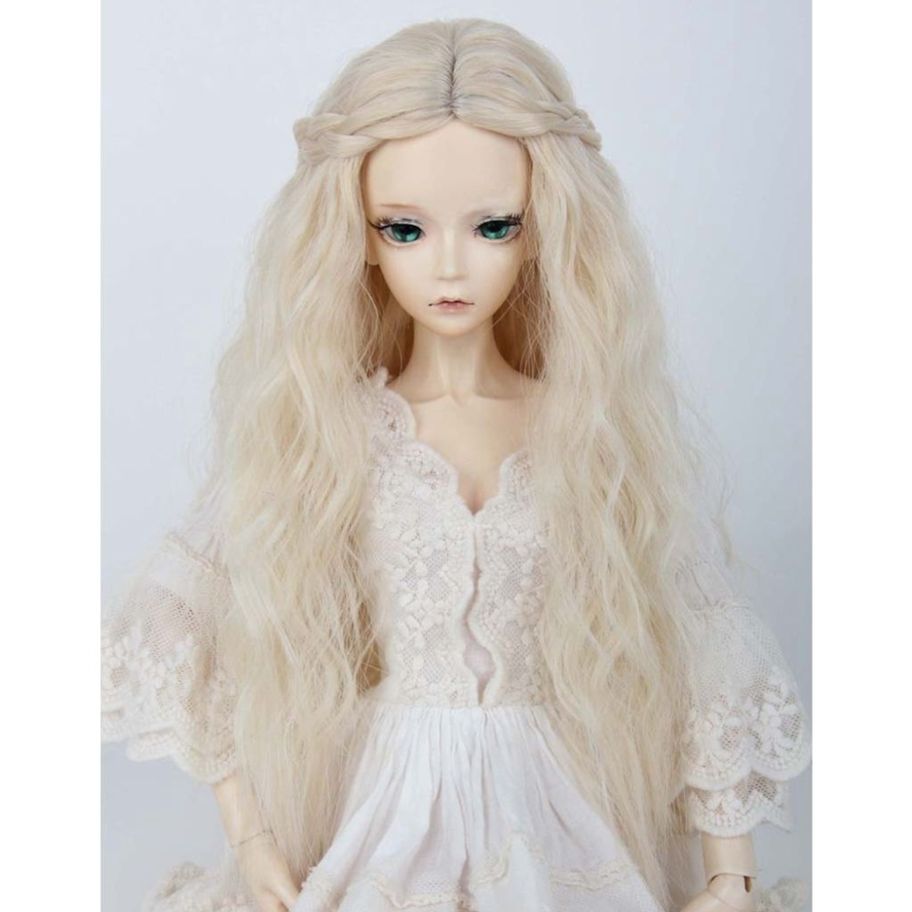 """8-9/"""" 1//3 BJD Blonde Long Curly Wave Wig LUTS Doll SD DZ DOD MSD Hair #"""