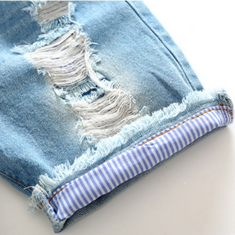 83055c166 Korean Summer Casual Baby Boy Denim Short Pant Fashion Vintage Hole  Children Shorts Jeans Elastic Waist Kid Cowboy Trouser-in Shorts from  Mother & Kids on ...